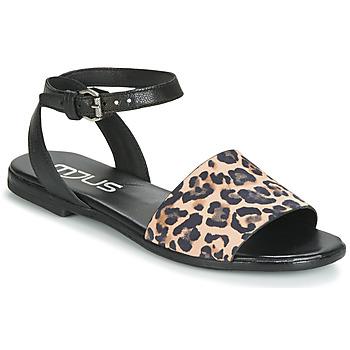 Čevlji  Ženske Sandali & Odprti čevlji Mjus CHAT LEO Črna