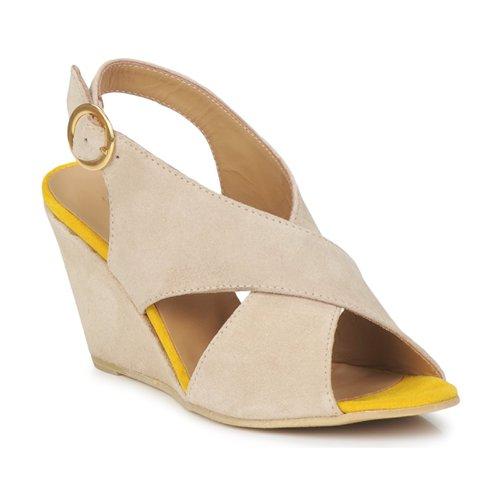 Čevlji  Ženske Sandali & Odprti čevlji Pieces OTTINE SHOP SANDAL Taupe