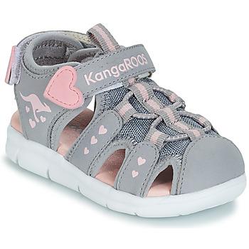 Čevlji  Deklice Sandali & Odprti čevlji Kangaroos K-MINI Siva / Rožnata
