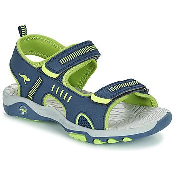 Čevlji  Dečki Sandali & Odprti čevlji Kangaroos K-LOGAN Zelena