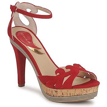 Čevlji  Ženske Sandali & Odprti čevlji Etro 3488 Rdeča