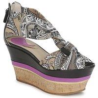 Čevlji  Ženske Sandali & Odprti čevlji Etro 3467 Siva / Črna / Vijolična