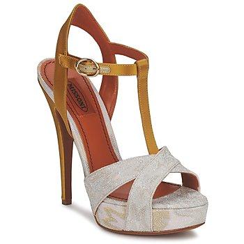 Čevlji  Ženske Sandali & Odprti čevlji Missoni TM30 Zlata / Silver