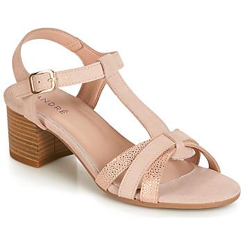 Čevlji  Ženske Sandali & Odprti čevlji André CAROLA Nude