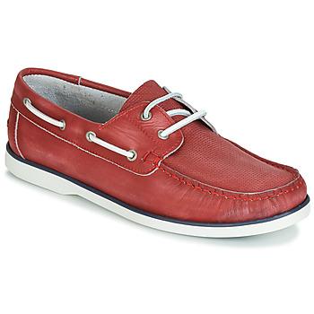 Čevlji  Moški Mokasini & Jadralni čevlji André PORT CROS Rdeča