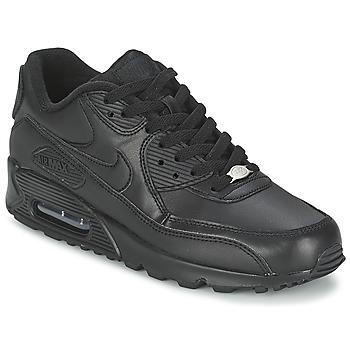 Čevlji  Moški Nizke superge Nike AIR MAX 90 LEATHER Črna