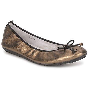 Čevlji  Ženske Balerinke Mac Douglas ELIANE Bronze / Črna / Varnish