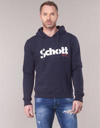 Oblačila Moški Puloverji Schott HOOD Modra