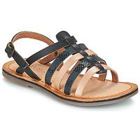 Čevlji  Deklice Sandali & Odprti čevlji Kickers DIXON Črna / Snake