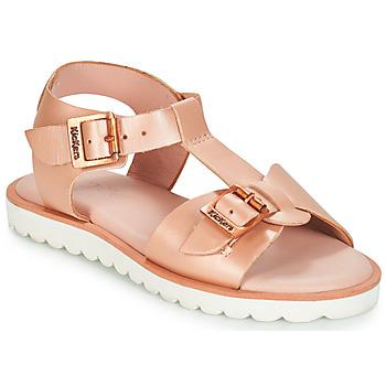 Čevlji  Deklice Sandali & Odprti čevlji Kickers ISABELA Rožnata