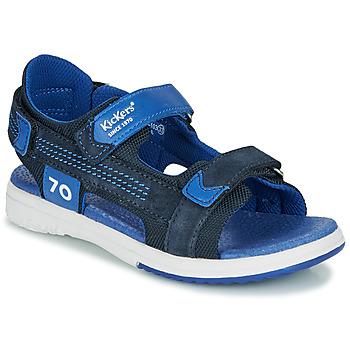Čevlji  Dečki Sandali & Odprti čevlji Kickers PLANE Modra