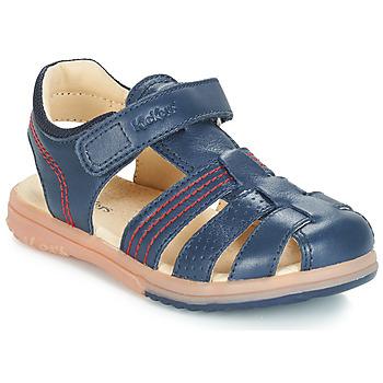 Čevlji  Dečki Sandali & Odprti čevlji Kickers PLATINIUM Modra