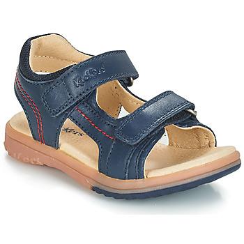 Čevlji  Dečki Sandali & Odprti čevlji Kickers PLATINO Modra