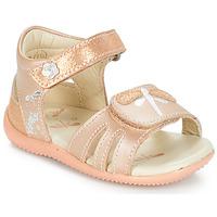 Čevlji  Deklice Sandali & Odprti čevlji Kickers BESHINE Rožnata