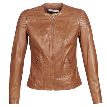 Oblačila Ženske Usnjene jakne & Sintetične jakne Naf Naf CLIM Cognac