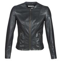 Oblačila Ženske Usnjene jakne & Sintetične jakne Naf Naf CLIM Črna