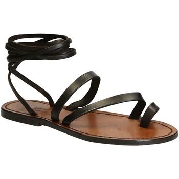 Čevlji  Ženske Sandali & Odprti čevlji Gianluca - L'artigiano Del Cuoio 513 D MORO CUOIO Testa di Moro