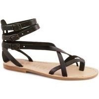 Čevlji  Ženske Sandali & Odprti čevlji Gianluca - L'artigiano Del Cuoio 564 D NERO LGT-CUOIO nero