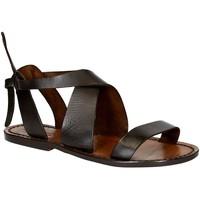 Čevlji  Ženske Sandali & Odprti čevlji Gianluca - L'artigiano Del Cuoio 570 D MORO CUOIO Testa di Moro