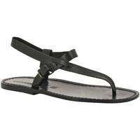 Čevlji  Moški Sandali & Odprti čevlji Gianluca - L'artigiano Del Cuoio 592 U NERO CUOIO nero