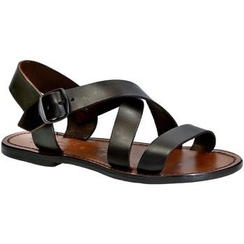 Čevlji  Ženske Sandali & Odprti čevlji Gianluca - L'artigiano Del Cuoio 508X D MORO CUOIO Testa di Moro