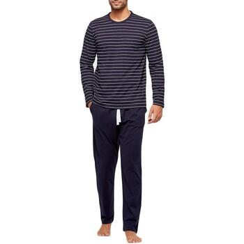 Oblačila Moški Pižame & Spalne srajce Impetus GO61024 039 Modra