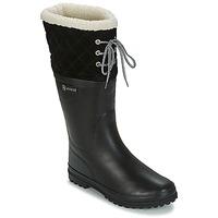 Čevlji  Ženske škornji za dež  Aigle POLKA GIBOULEE Črna