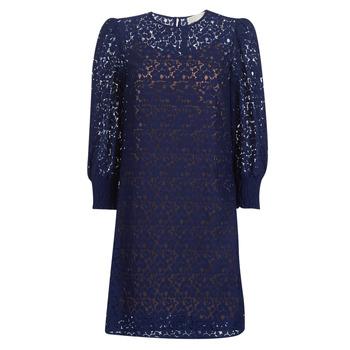Oblačila Ženske Kratke obleke MICHAEL Michael Kors BLOUSON SLV LACE DRS Modra