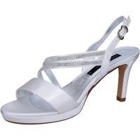 Čevlji  Ženske Sandali & Odprti čevlji Bacta De Toi sandali bianco raso strass BT845 Bianco