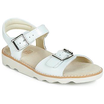Čevlji  Deklice Sandali & Odprti čevlji Clarks Crown Bloom K Bela