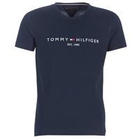 Oblačila Moški Majice s kratkimi rokavi Tommy Hilfiger TOMMY FLAG HILFIGER TEE Modra
