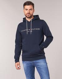 Oblačila Moški Puloverji Tommy Hilfiger TOMMY LOGO HOODY Modra