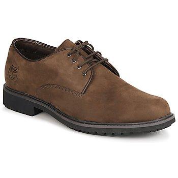 Čevlji  Moški Čevlji Derby Timberland EK STORMBUCK PLAIN TOE OXFORD Kostanjeva