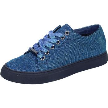 Čevlji  Ženske Nizke superge Sara Lopez sneakers blu tessuto BT995 Blu