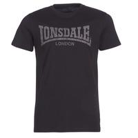 Oblačila Moški Majice s kratkimi rokavi Lonsdale LOGO KAI Črna