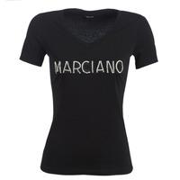Oblačila Ženske Majice s kratkimi rokavi Marciano LOGO PATCH CRYSTAL Črna