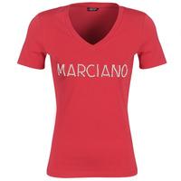 Oblačila Ženske Majice s kratkimi rokavi Marciano LOGO PATCH CRYSTAL Rdeča