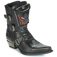 Čevlji  Moški Mestni škornji    New Rock M-WST024-S3 Črna