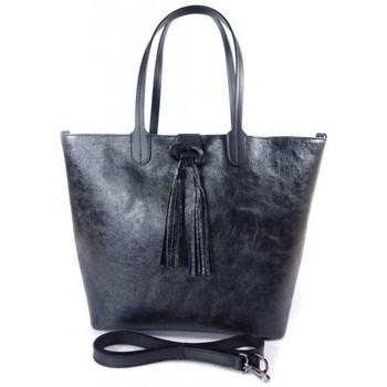 Torbice Ženske Nakupovalne torbe Vera Pelle SB599N Črna