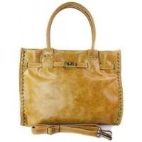 Torbice Ženske Ročne torbice Vera Pelle SB577C Rumena, Medena