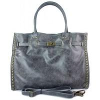 Torbice Ženske Ročne torbice Vera Pelle SB577G Siva
