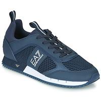 Čevlji  Moški Nizke superge Emporio Armani EA7 BLACK&WHITE LACES U Modra