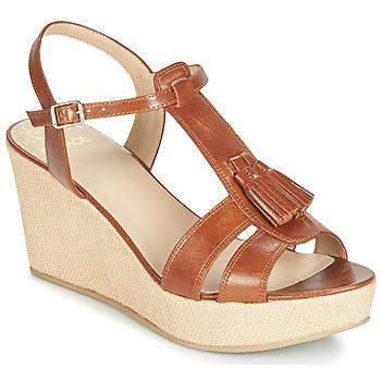 Čevlji  Ženske Sandali & Odprti čevlji Bocage HERLE Cognac