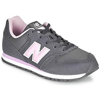 Čevlji  Deklice Nizke superge New Balance 373 Siva / Rožnata