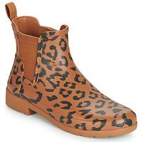 Čevlji  Ženske škornji za dež  Hunter ORG REFINED CHELSEA HYBRD PRNT Kostanjeva