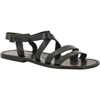 Čevlji  Moški Sandali & Odprti čevlji Gianluca - L'artigiano Del Cuoio 531 U NERO CUOIO nero