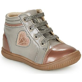 Čevlji  Deklice Visoke superge GBB OTANA Siva / Rožnata