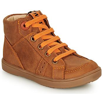Čevlji  Dečki Visoke superge GBB ANGELITO Cognac / Oranžna