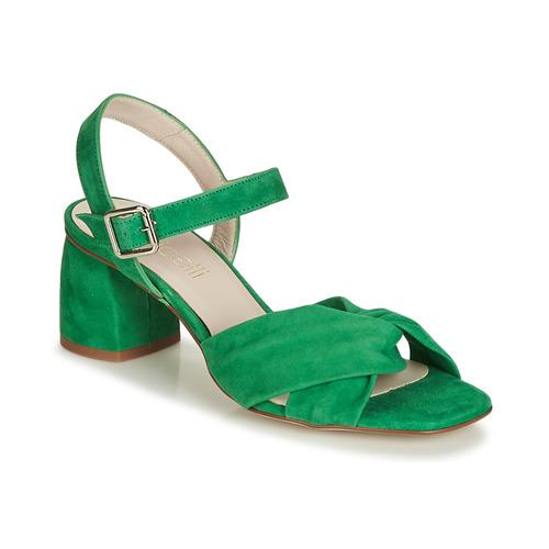 Čevlji  Ženske Sandali & Odprti čevlji Fericelli JESSE Zelena