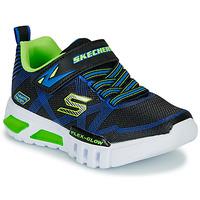Čevlji  Dečki Nizke superge Skechers SKECHERS BOY Modra / Zelena